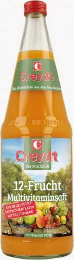 Creydt Multivitaminsaft 100% 12-Frucht