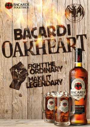 Bacardi Oakhart Smooth & Spiced 35vol% GASTRO